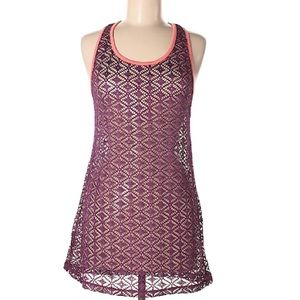 Miken Wine Lace Swim Cover up